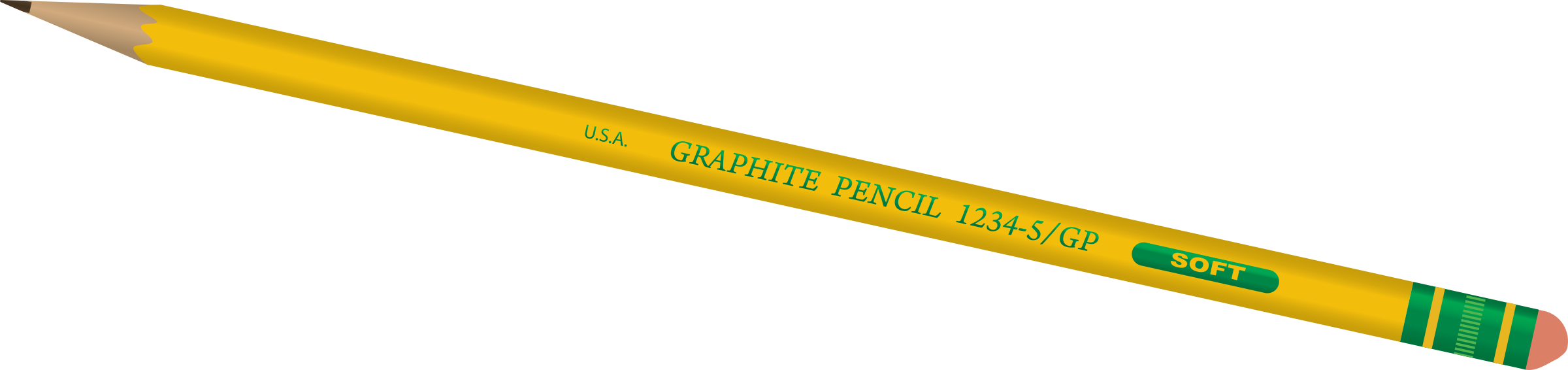 Transparent pencils. Clipart pencil big image