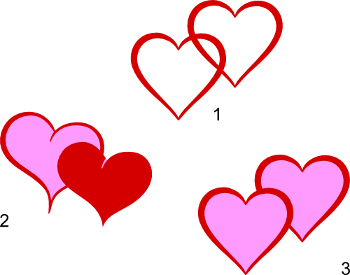 2 svg hearts. Double heart files images