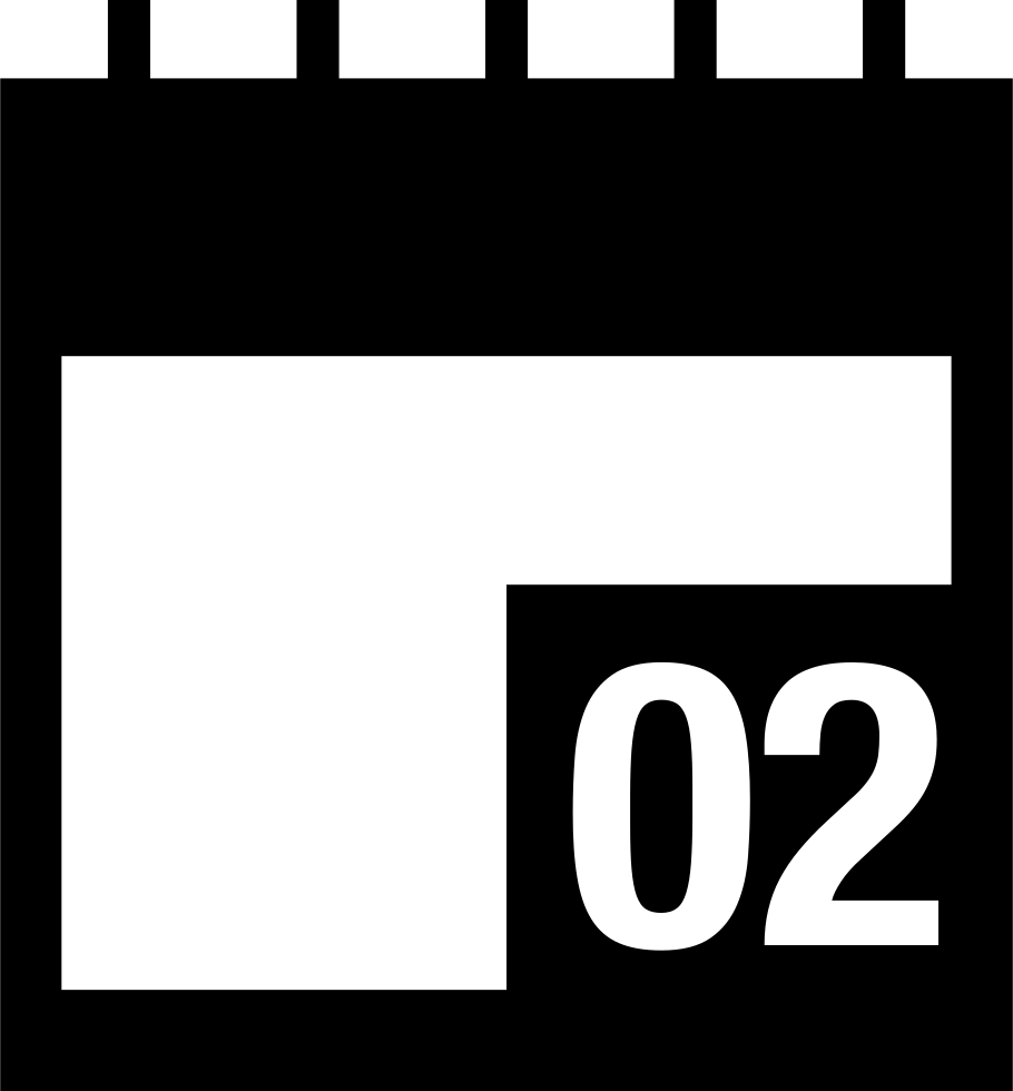 2 svg icone. Calendar page on day