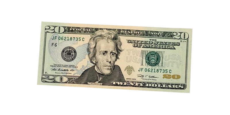 United states twenty banknote. 20 dollar bill png image freeuse library