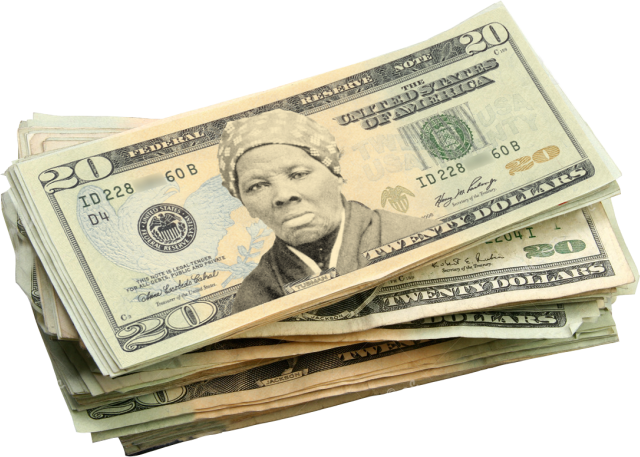 Harriet tubman on newly. 20 dollar bill png vector transparent library