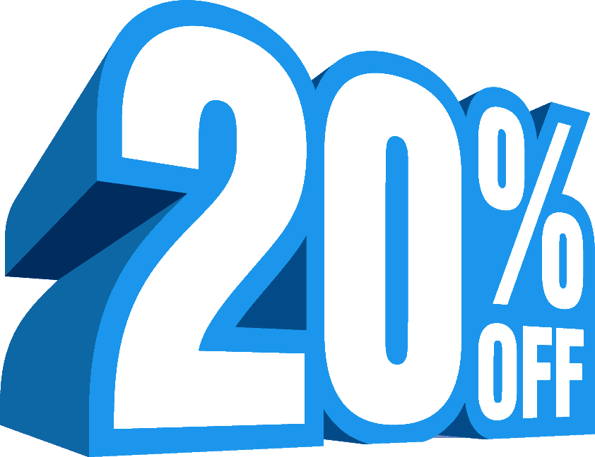 20 off sale png. Percent discount icon