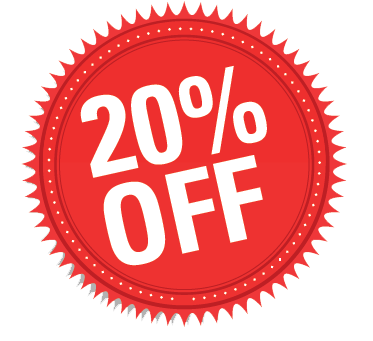 20% off sale png