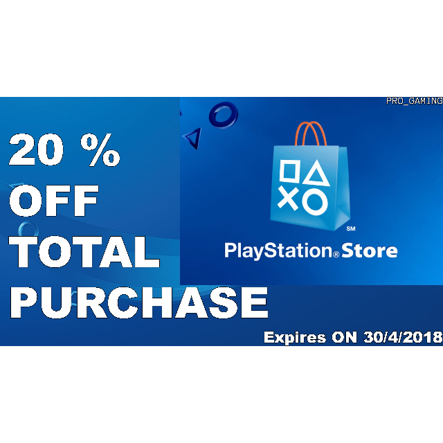 20 percent off png coupon. Discount code playstation store