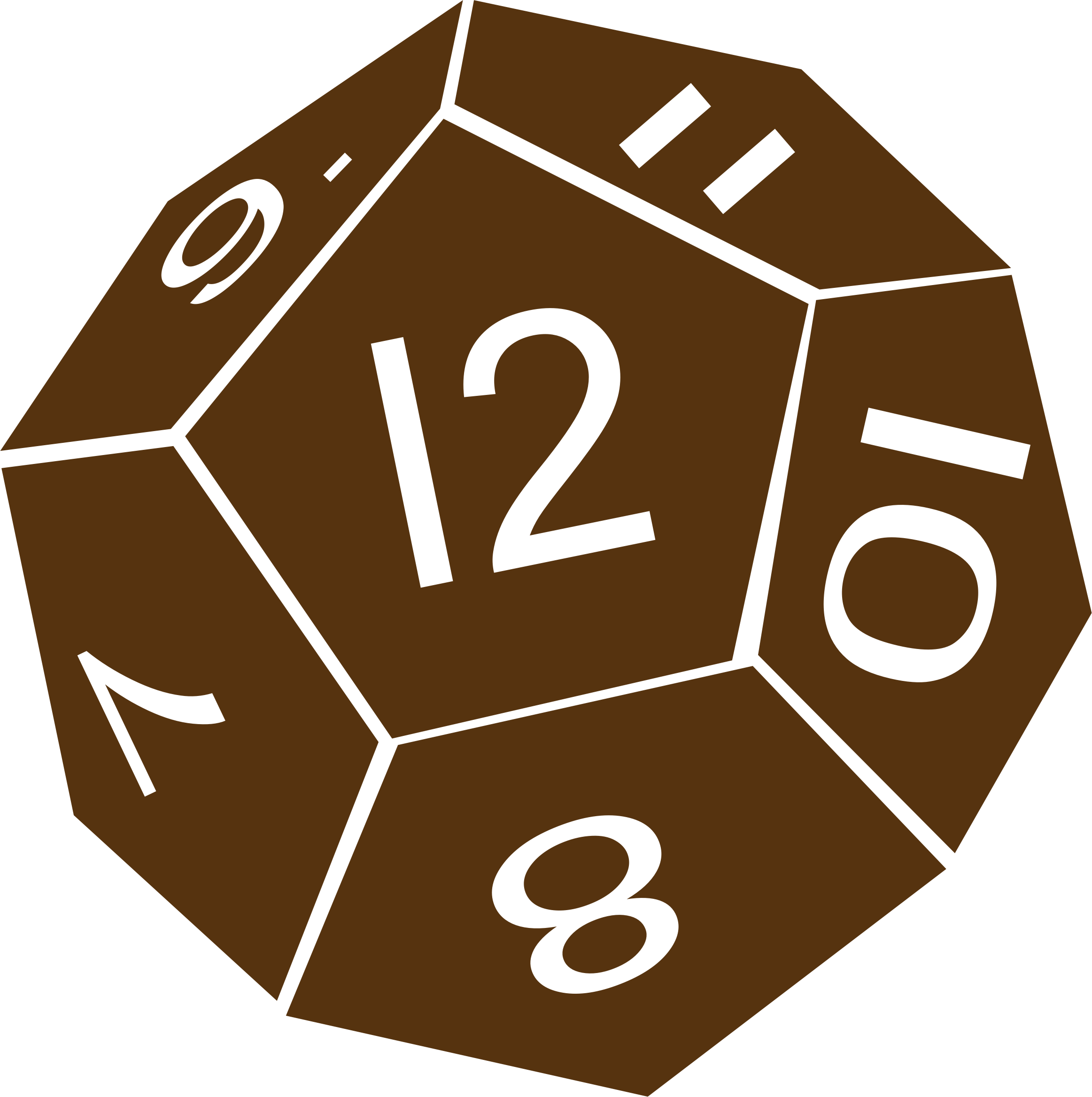 Dice clipart d12. D twelve sided icons