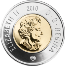 Quarter drawing coin canadian. Loonie revolvy toonie