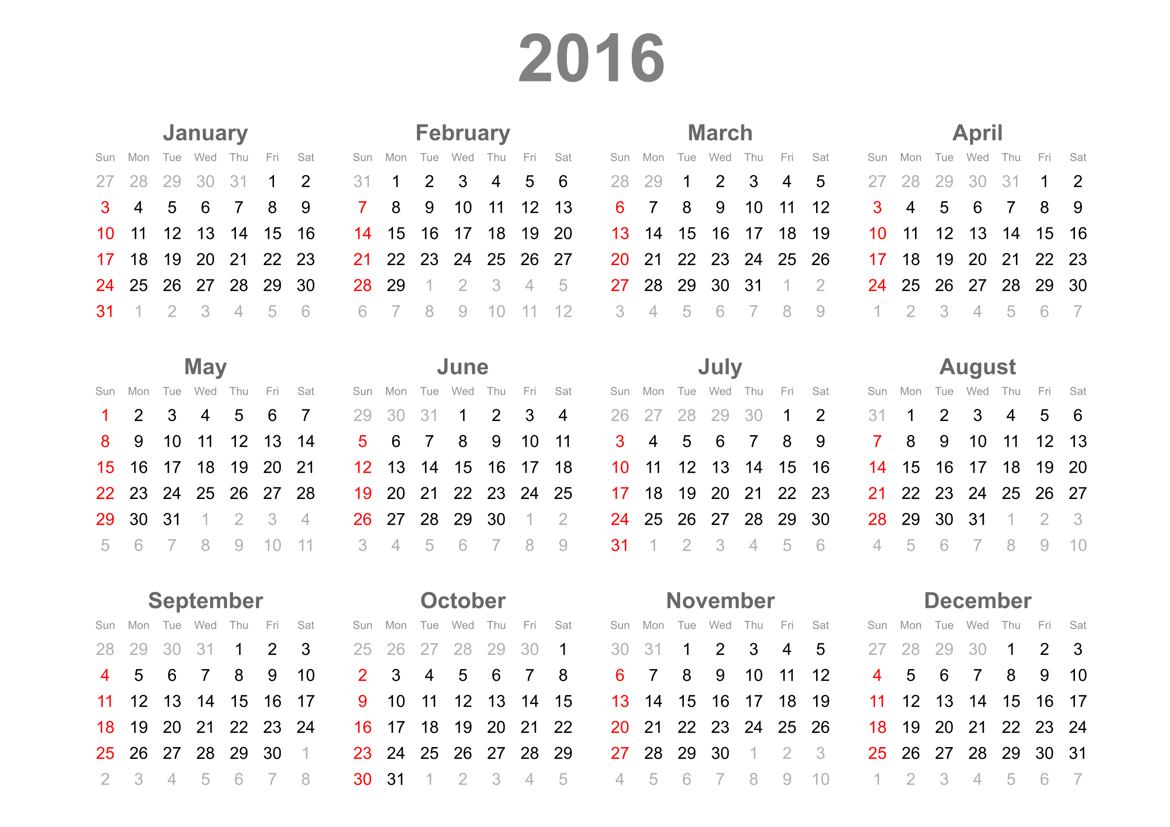 2016 calendar png. Icons free and downloads