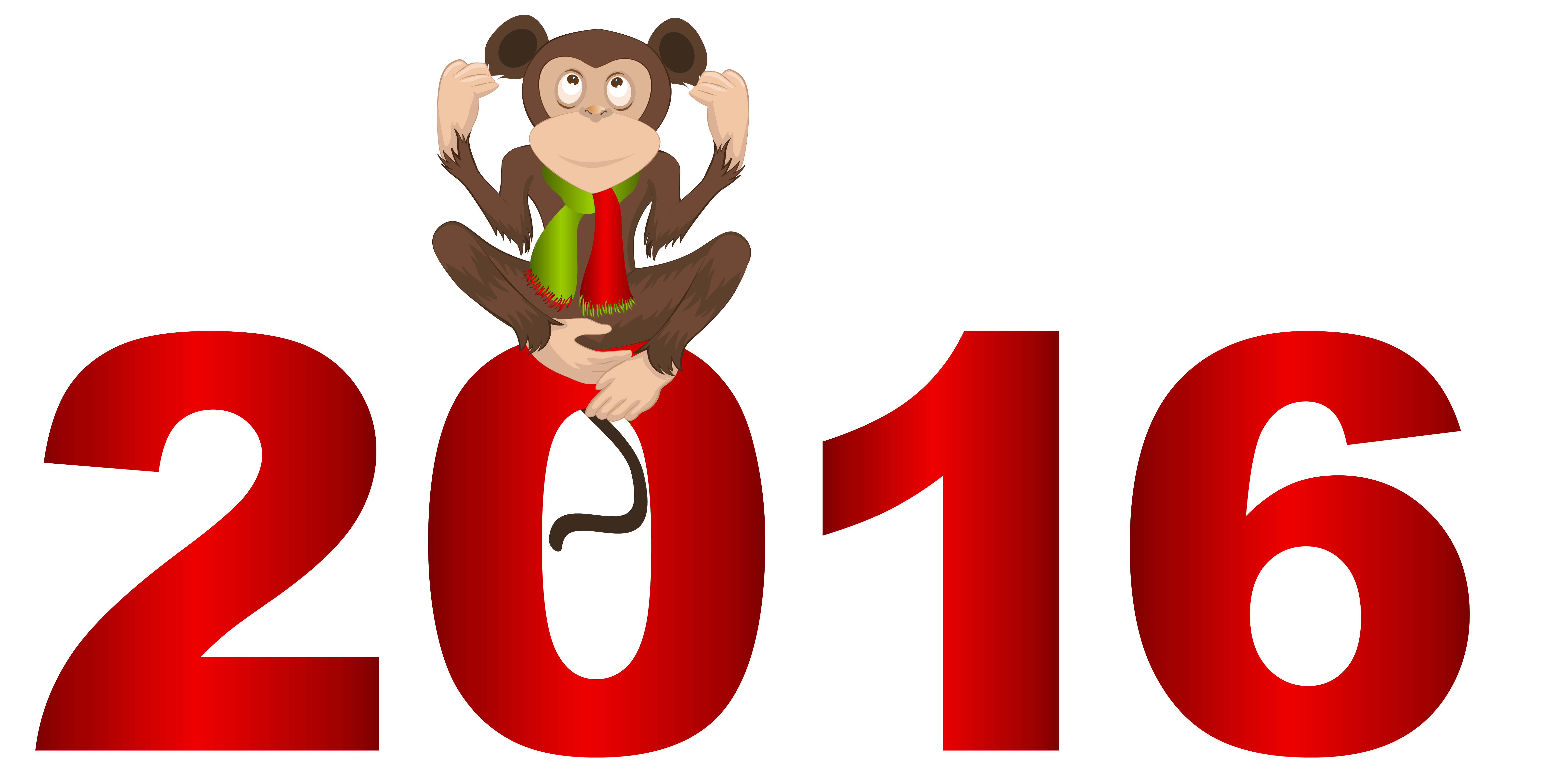 2016 clipart. With monkey png