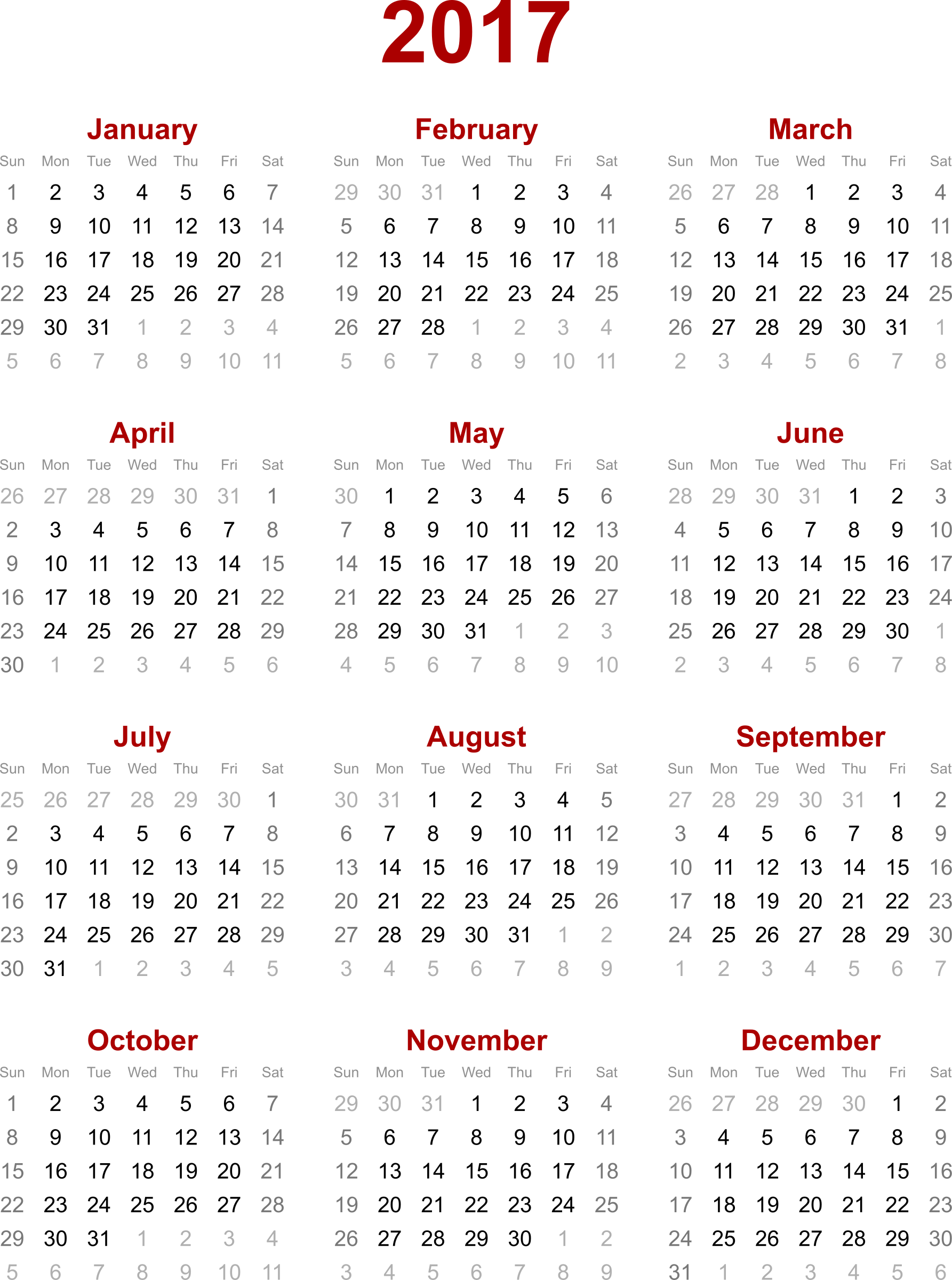 January holiday png. Calendar transparent images