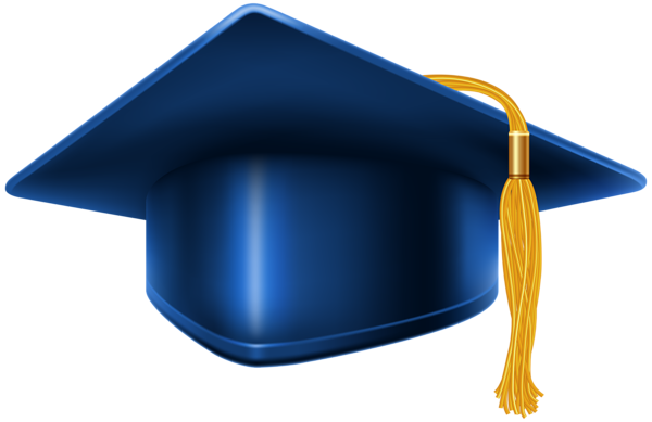2017 cap and diploma png. Blue graduation decorative elements