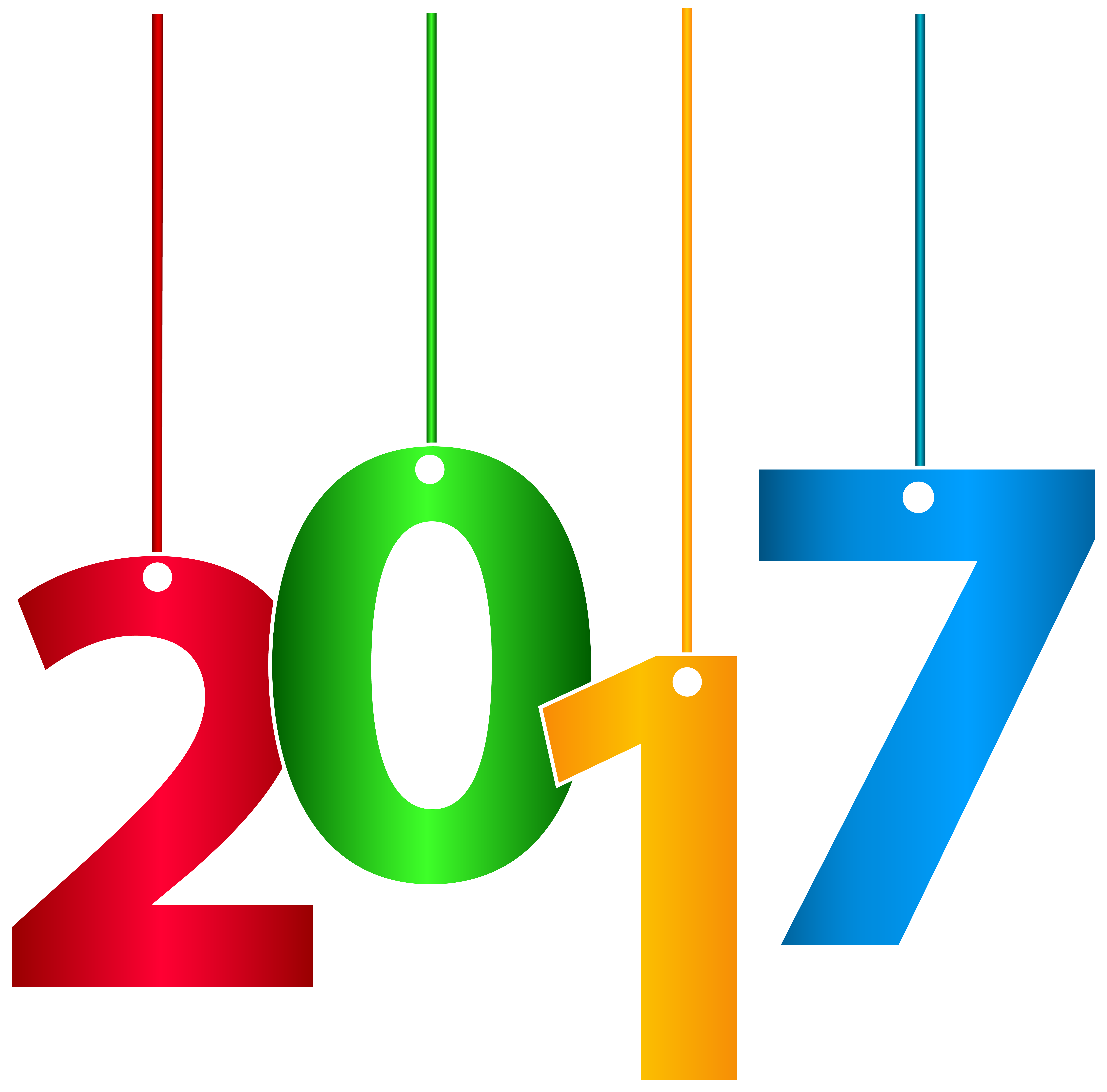 2017 clipart clear background. Hanging transparent clip