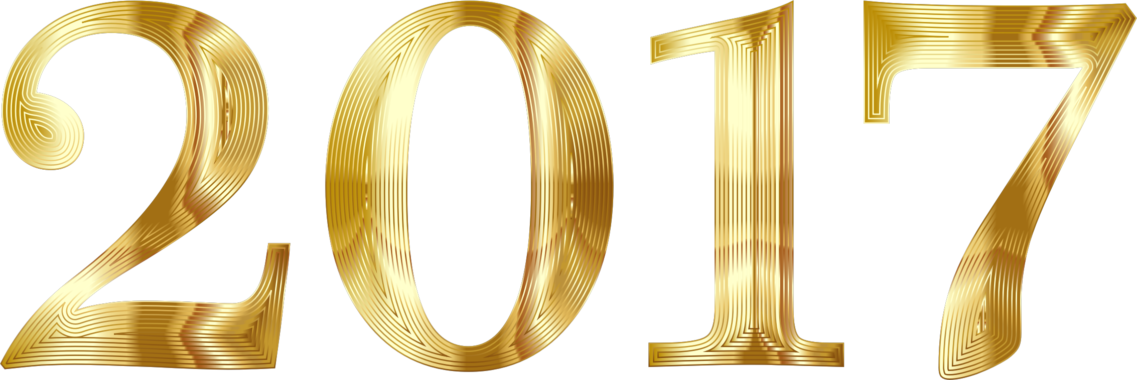 2017 clipart clear background. Gold typography no big