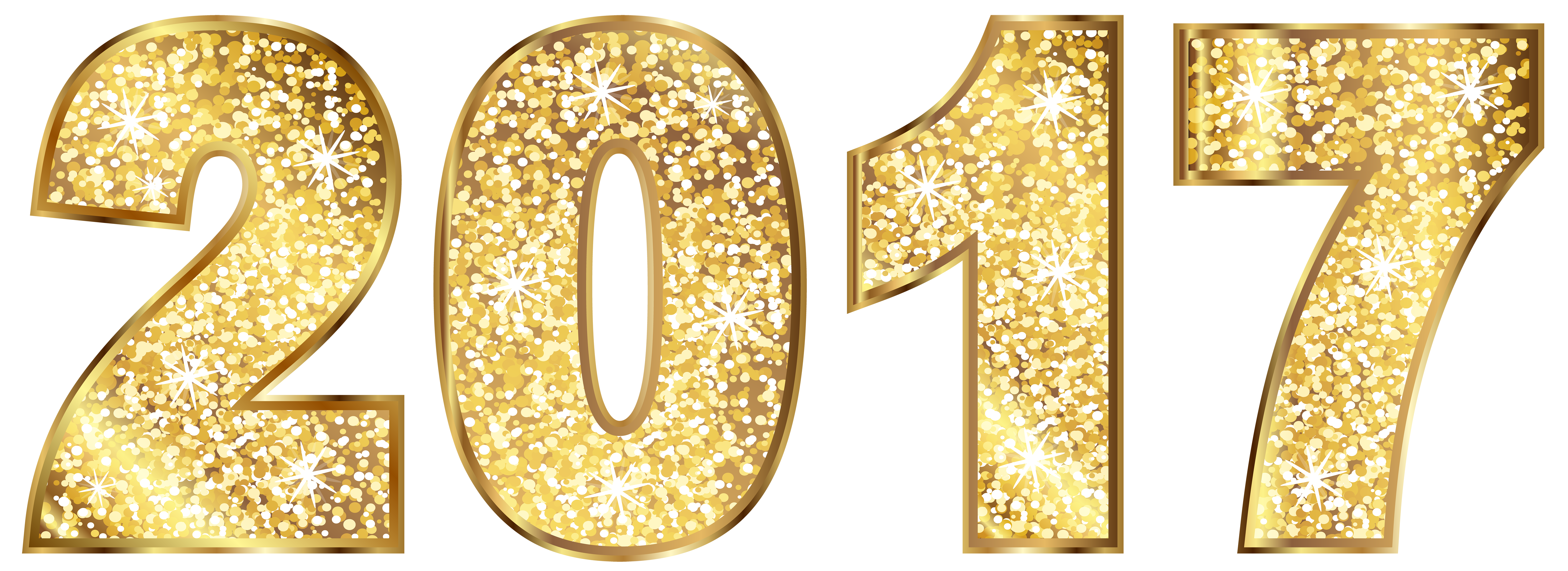 2017 clipart clear background. Gold transparent clip
