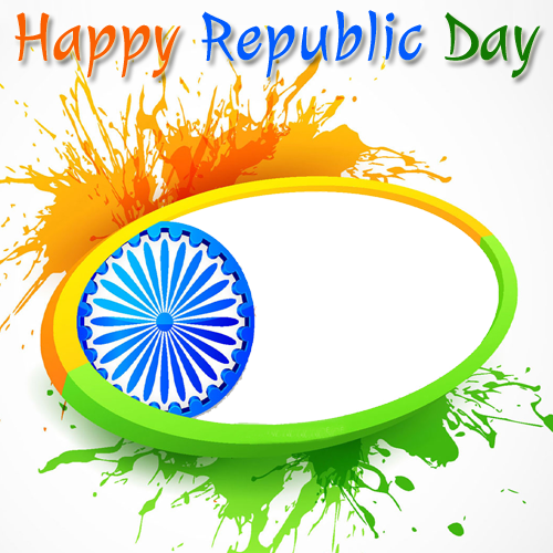 Republic drawing national festival. Indian day celebration frame