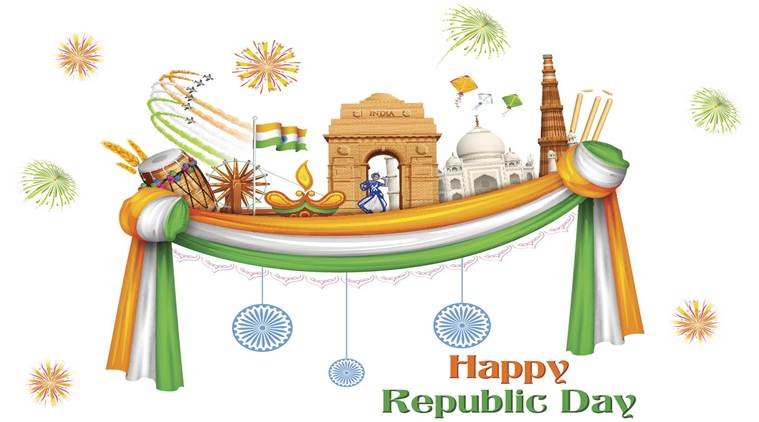 2017 clipart republic day. Happy wishes sms quotes