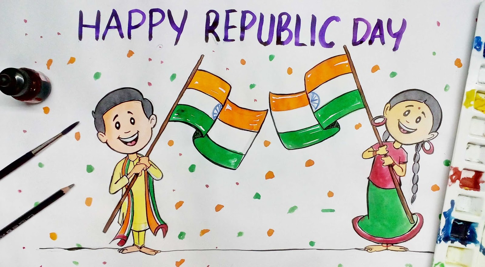 2017 clipart republic day. Happy for january design