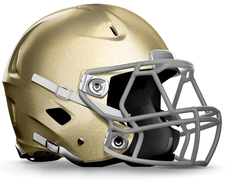 gold football helmet png