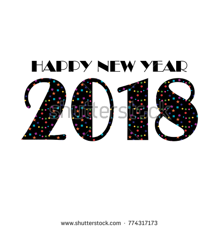 2018 clipart confetti happy new year typography graphic freeuse download