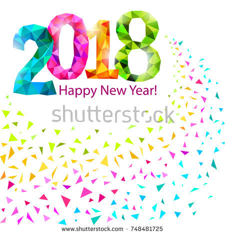 happy new year greeting 2018 clipart confetti clip art freeuse stock