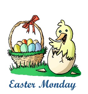 2018 clipart easter monday. Merry christmas and happy