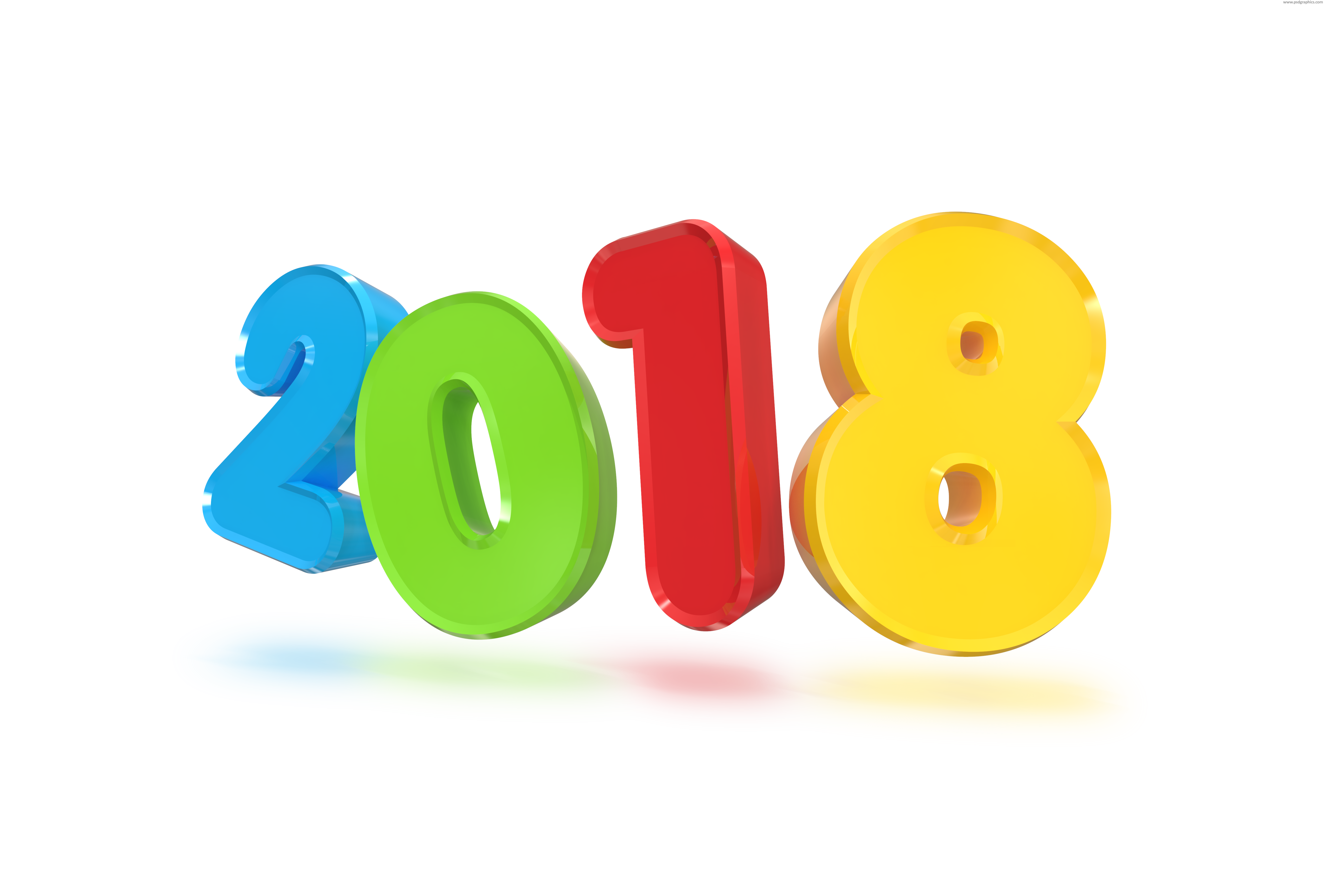 2018 new year png. D sign psdgraphics