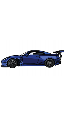 R34 drawing drift car. How to draw nissan