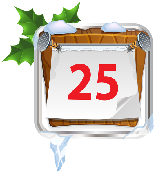 25 clip. December christmas sign png