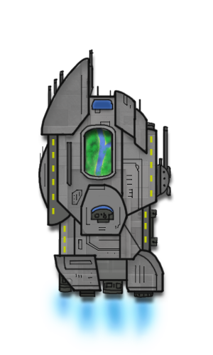 2d space ship png. D spaceship test