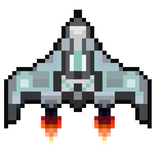 8 bit spaceship png. Space shooter d by
