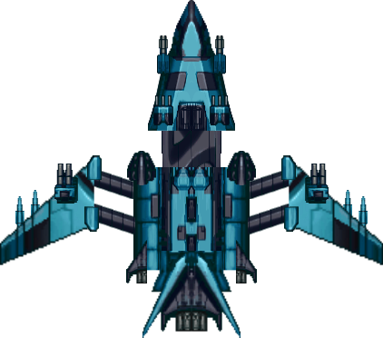 2d space ship png. Spaceship fighter ipod opengameart