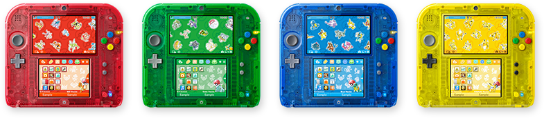 2ds transparent blue
