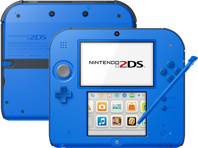 2ds transparent. Nintendo ds electric blue