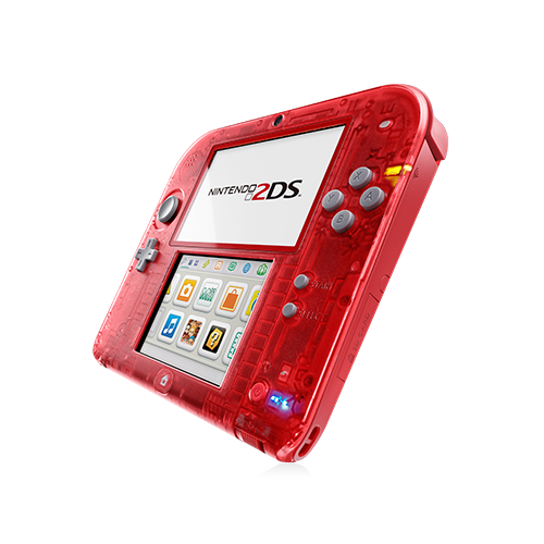 2ds transparent red