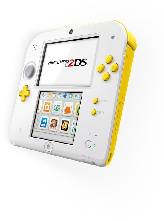 2ds transparent avatar. White yellow ds new