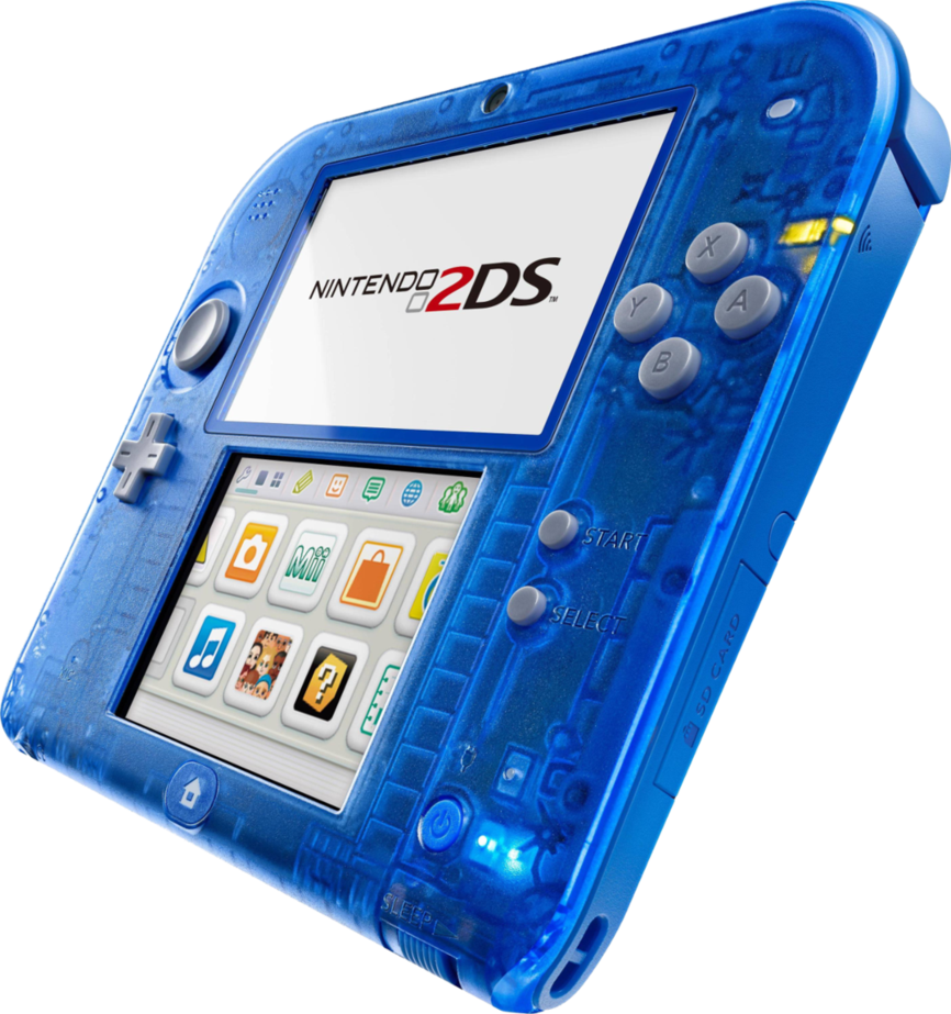 2ds transparent blue. Nintendo ds s side