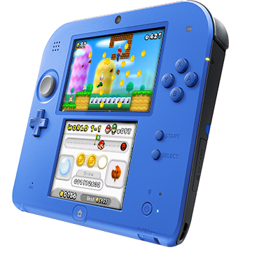 2ds transparent electric blue. Ds new super mario