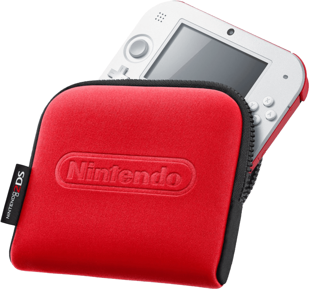 2ds transparent red. Nintendo ds carrying case