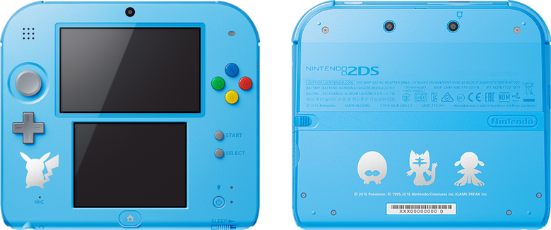 2ds transparent silhouette. Light blue pok mon