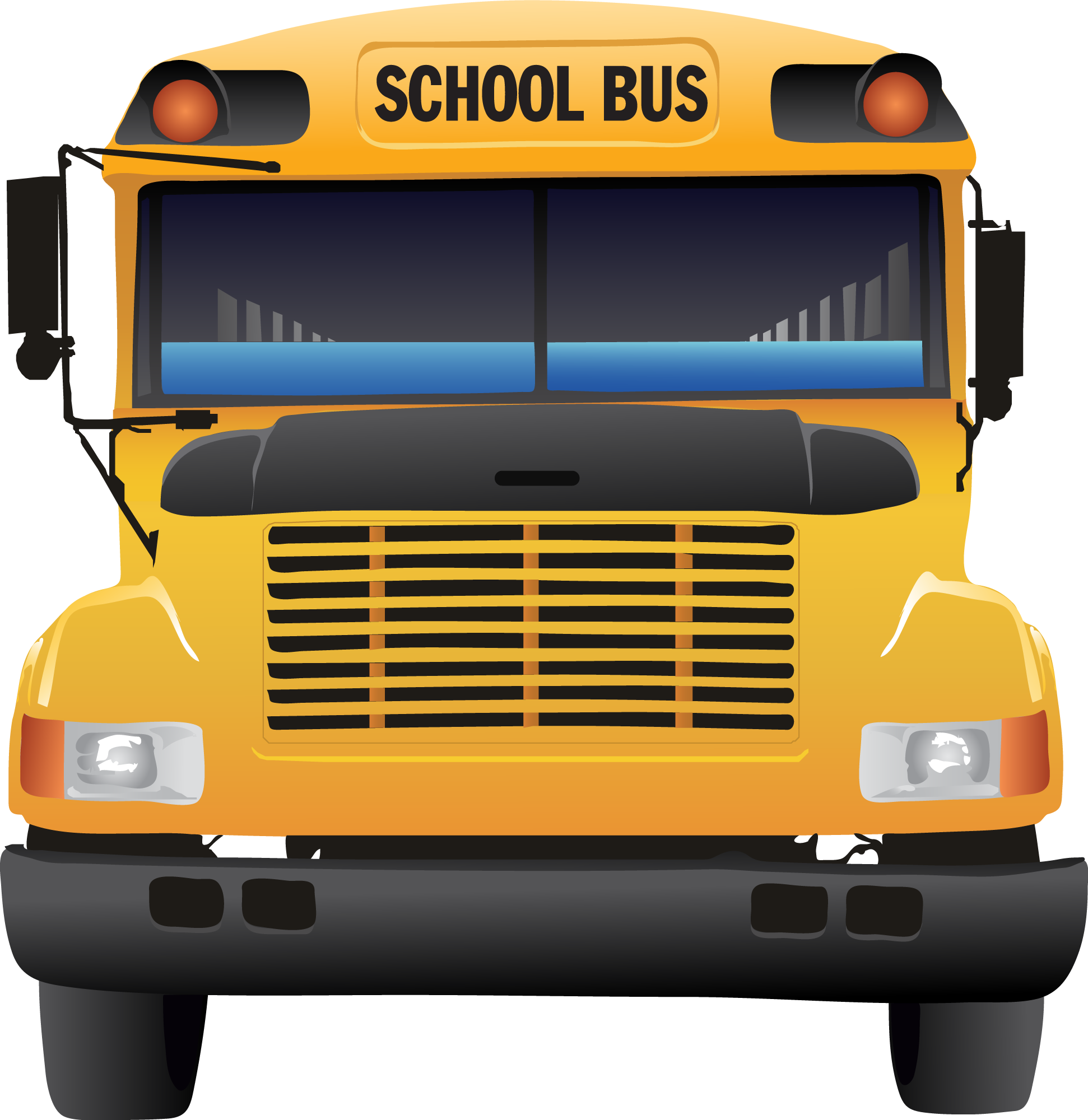 Driver vector bus. School from clipart collection