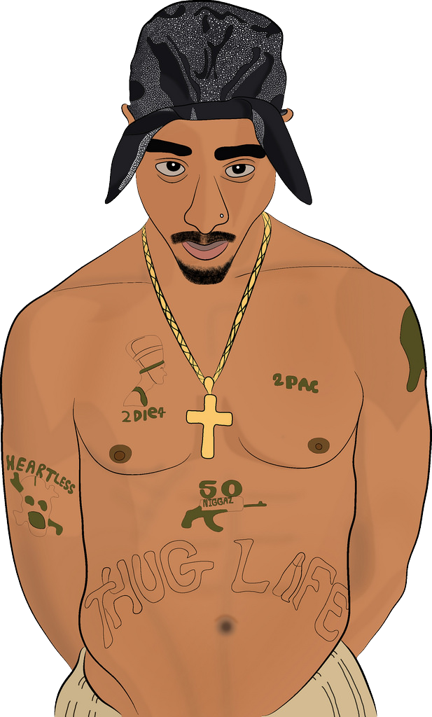2pac transparent cartoon. Tupac shakur biggie drawing