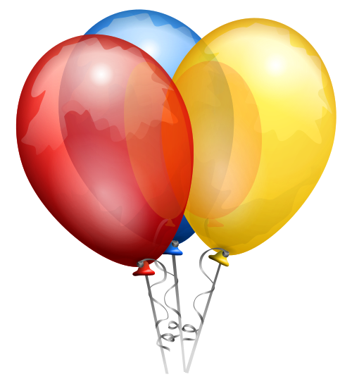 Balloon s image purepng. Happy birthday balloons png jpg black and white library