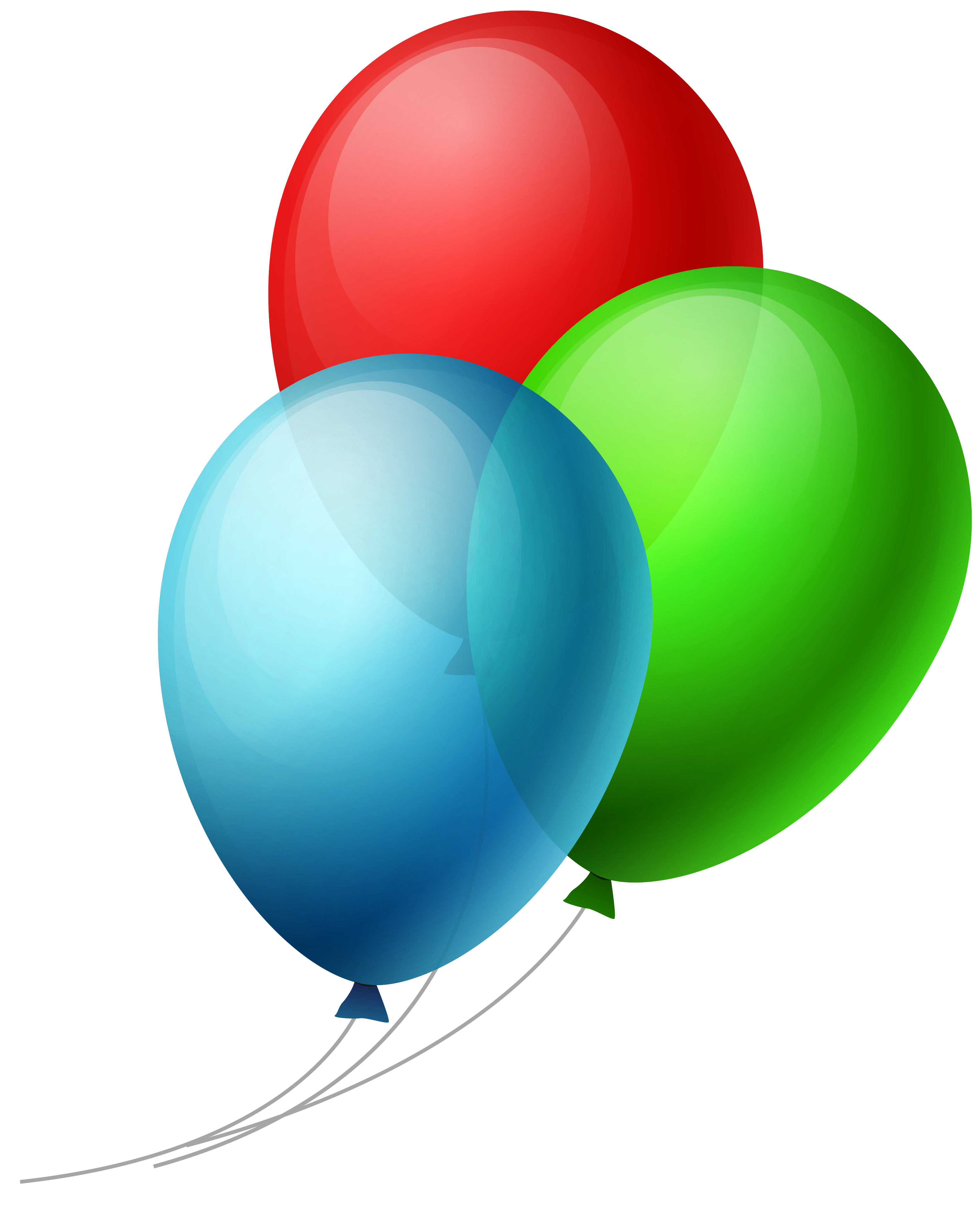 3 balloon png. Transparent three balloons clipart