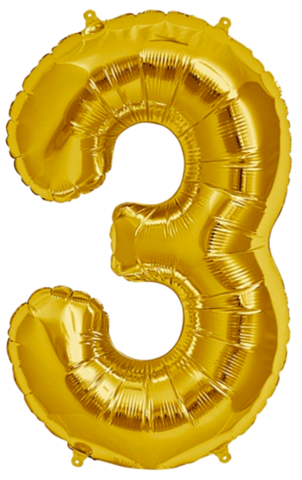 3 balloon png. Giant foil number balloons