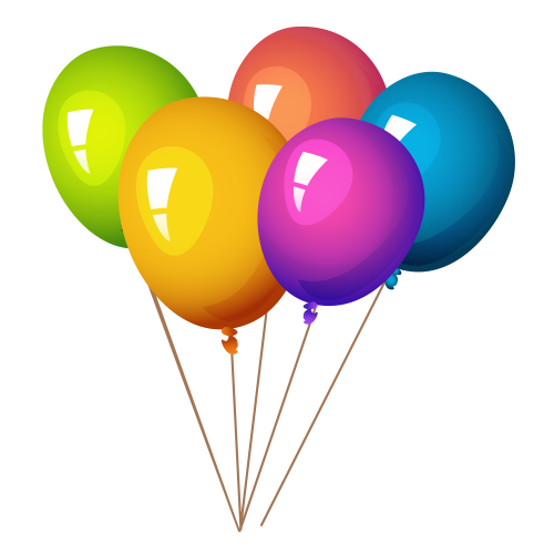 3 balloon png. Colorful balloons image pngpix