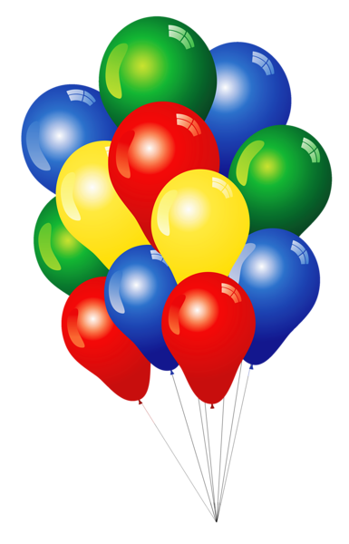 3 balloon png. Multicolored balloons clipart clip