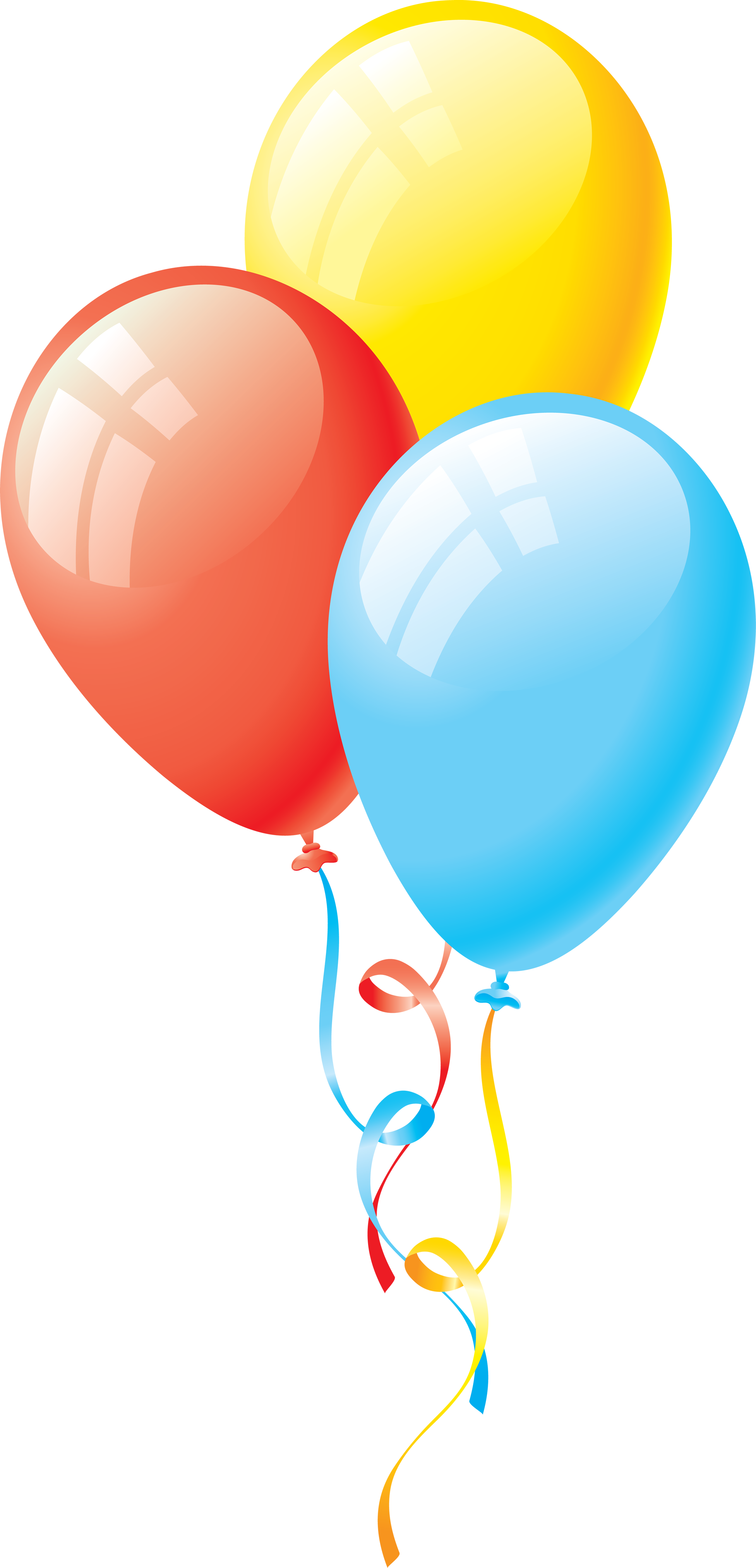 3 balloon png. Colorful image free download