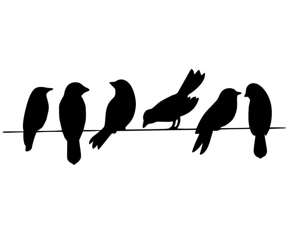 3 birds on a wire. Something to craft about