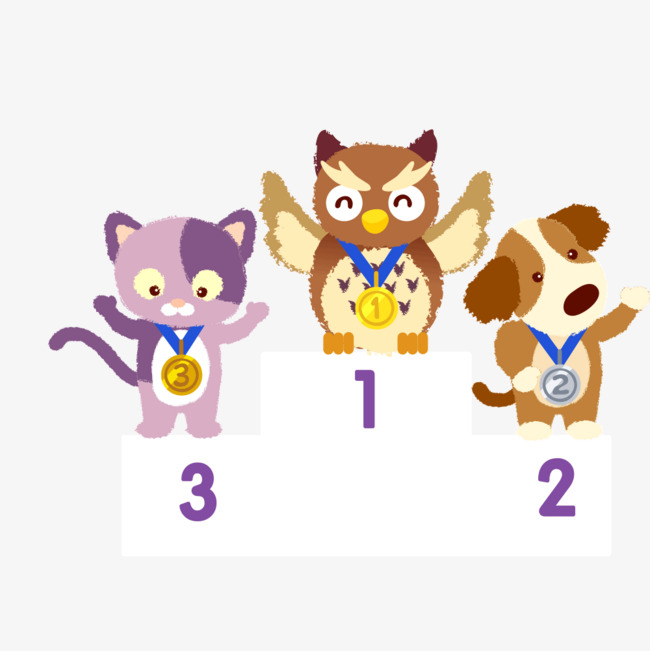 Winner of three small. 3 clipart animal graphic free library