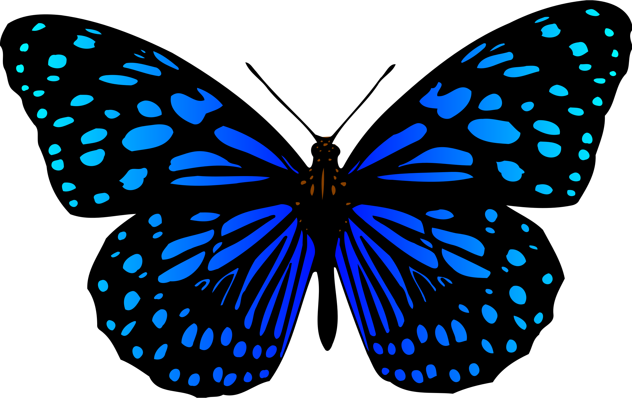 3 clipart butterfly. Colour big image png