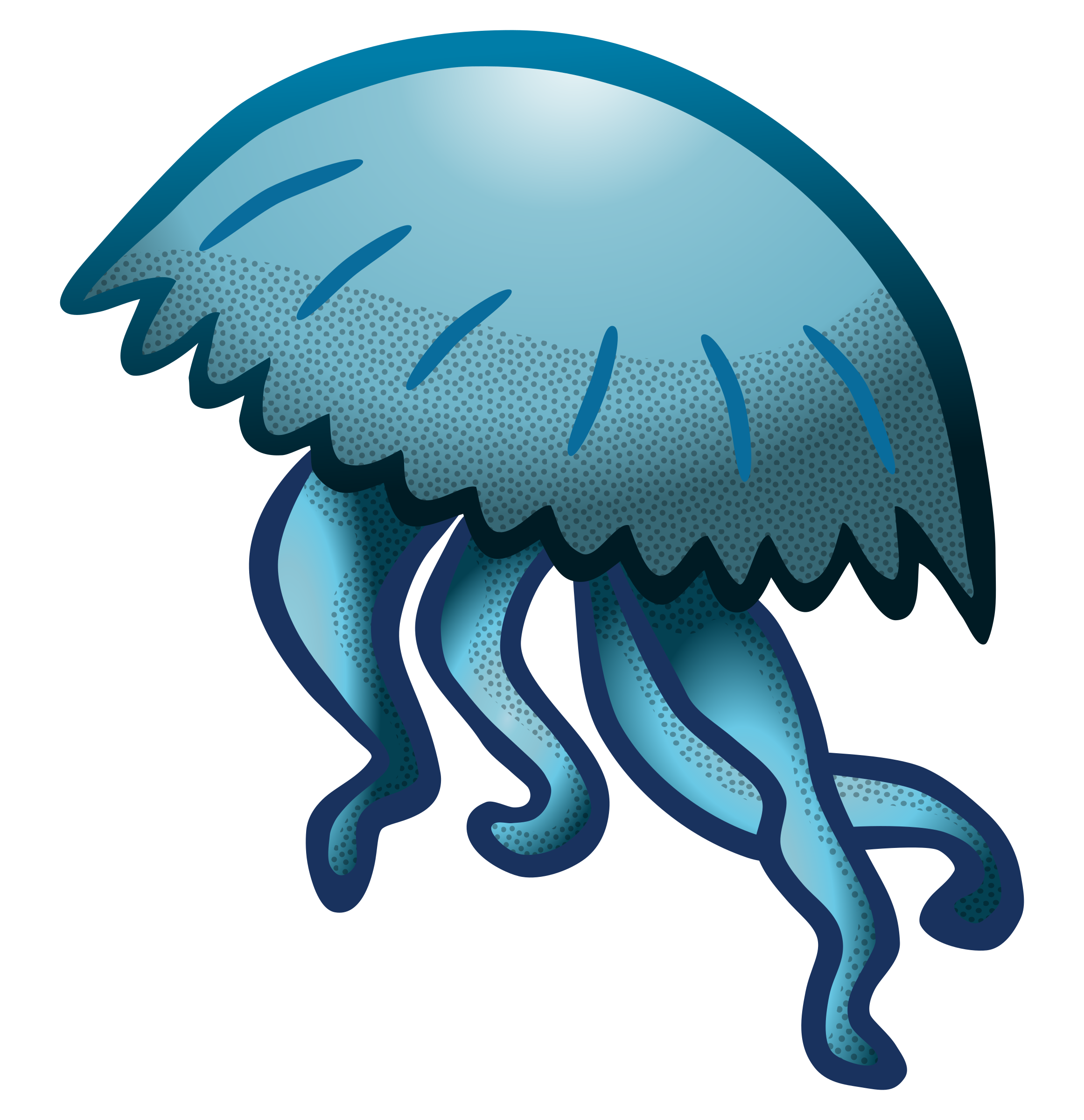 3 clipart jellyfish. Coloured big image png